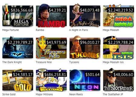 Die berühmten Jackpot Spielautomaten von 22 Casino Spiel Software Endwicklern