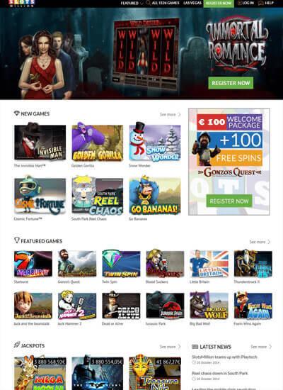 So sieht die Spiel Auswahl der SlotsMillion Casino App aus